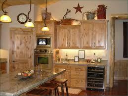 Creamy Ceramic Desk Square Brown Dresser Rustic Kitchen Decorating Ideas Hanging Lamp Wooden Varnished Floortile Classic Design