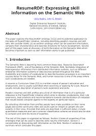 PDF) ResumeRDF: Expressing Skill Information On The Semantic Web Easy Resume Examples Fresh Unique Areas Expertise How To Write A College Student Resume With Examples 10 Chemistry Skills Proposal Sample Professional Senior Marketing Executive Templates Why Recruiters Hate The Functional Format Jobscan Blog Best Finance Manager Example Livecareer Describe In Your Cv Warehouse Operative Myperfectcv Infographic Template Venngage 7 Ways Improve Your Physical Therapist Skills Section 2019 Guide On For 50 Auto Mechanic Mplate Example Job Description
