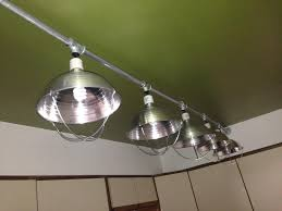 Track Lighting For Cathedral Ceilings by Custom Kitchen Light Made From Chicken Brooder Lights Emt Conduit