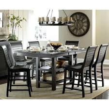 Distressed Dining Table Set Room Chairs Farmhouse Sets White Rustic Wood
