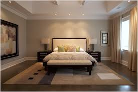 Bedroom Soffit Design Ideas Contemporary Toronto Baseboard Beige Walls Coffered Ceiling Curtain Panels Grey