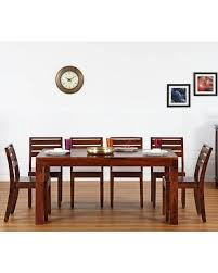 Home Solid Wood 6 Seater Dining Set