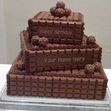 Design your own names of Chocolate Layered Birthday Cake