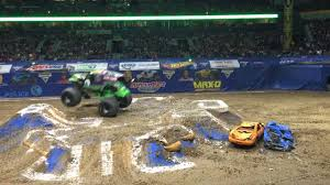 100 Monster Trucks Nashville Grave Digger Bridgestone Arena TN 1916 YouTube