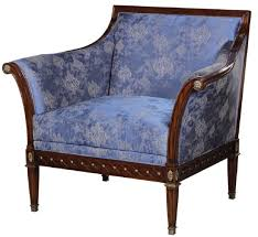 casa padrino luxus jugendstil sessel blau braun antik messingfarben 112 x 89 x h 100 cm edler mahagoni wohnzimmer sessel mit elegantem
