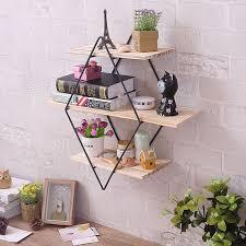 eisen kunst holz rhombischen regal wohnzimmer esszimmer wand hängende dekoration retro bücher und zeitschriften kleine artikel kreative zon
