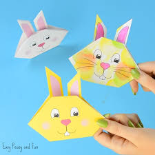 Bunny Origami For Kids Craft