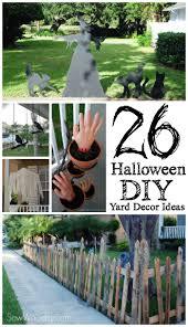 Halloween Cemetery Fence Diy by 26 Halloween Diy Yard Decor Ideas Sew Woodsy