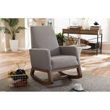Baxton Studio Yashiya Mid-century Retro Modern Gray Fabric ... Whosale Rocking Chair Living Room Fniture Yashiya Midcentury Retro Modern Grey Fabric Upholstered Cheap Find Nursery Ideas Home Decor Whole Rocking Chairs Living Room Fniture Light Beige Upholstered Design Wooden Chair With Thick Seat And Back Cushions Chairs Thrghout Baxton Studio Maggie Midcentury Agatha Amazoncom Balen Mid Century Iona Amusing Round With Comfy Seat Look As