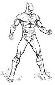 Flash Desenho Para Colorir Pintar Liga Da Justiça Paint Coloring