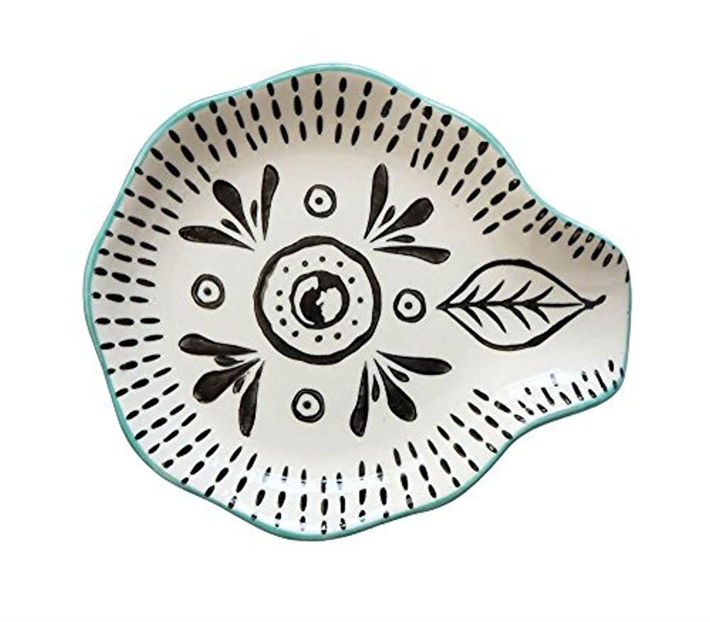 Creative Co-op DA8655 Hand Stamped Stoneware Spoon Rest