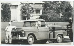 100 1960s Chevy Truck Chevrolet Pickup Man Landscaping Vintage Black