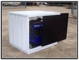 portable generator cover shed storage enclosure home design ideas