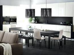 cuisine blanc et noir table laqu blanc ikea ensemble de meuble tv superior