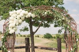 Wedding Arch Flowers Hydrangea Rustic Barn Venue Dallas DFW Texas