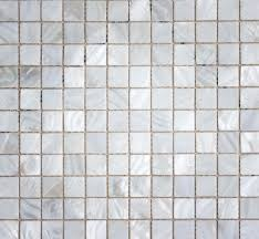 White Mosaic Tiles Abstract Texture And Background Stock Photo