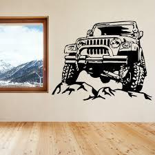 100 Monster Truck Bedroom Car SUV Wall Sticker For Kids Room Boy Nursery