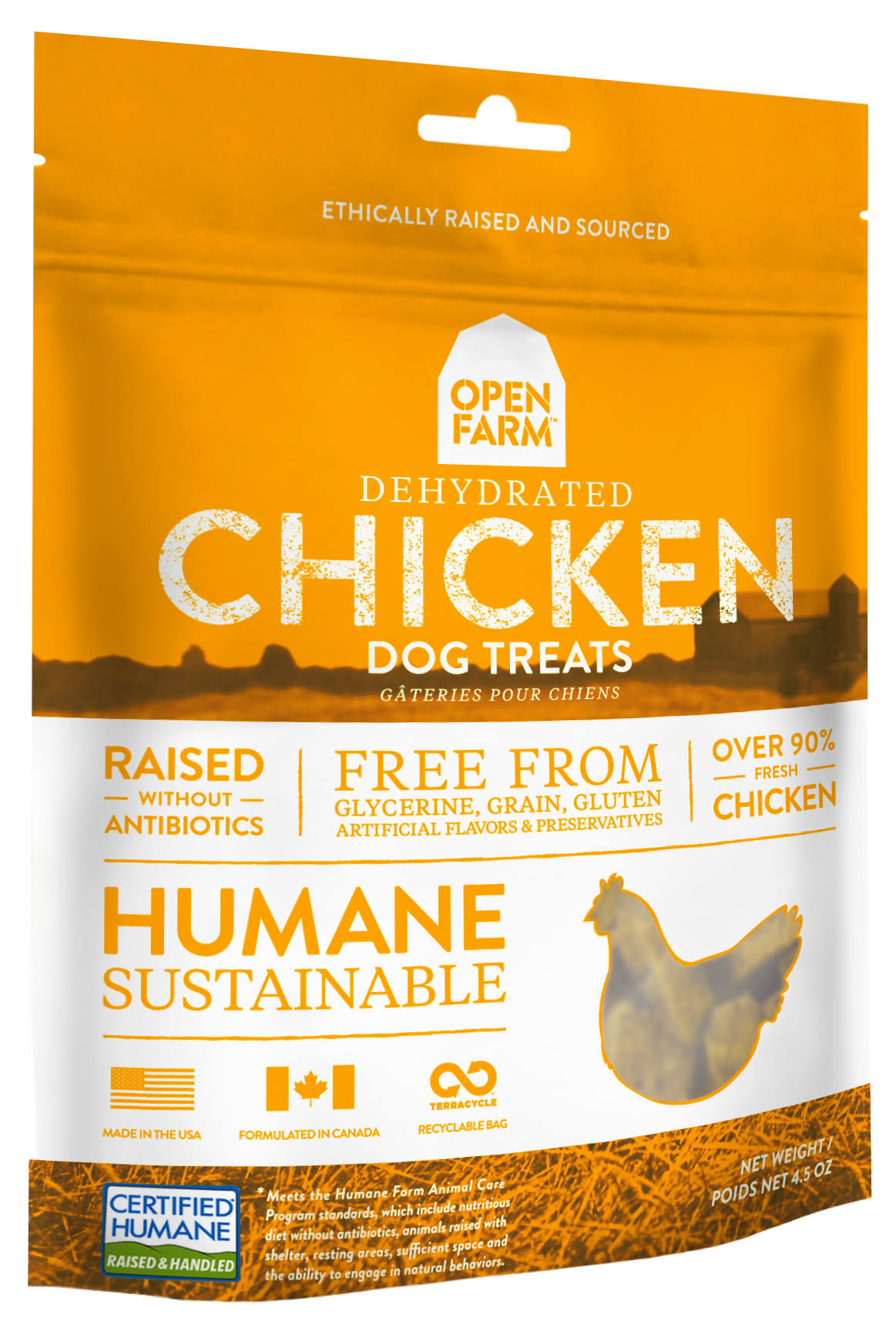 Open Farm Dog Treat - Dehydrated Chicken, 127g