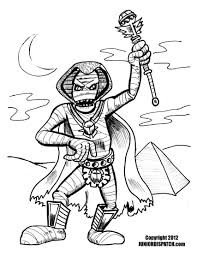 Mummy Coloring Pages Page Free Book For Kids Halloween To Print Download