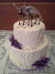 Rustic White Chocolate Lavender Dear Wedding Cake Created By MJ Mjscakesco