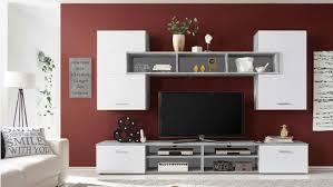 Anbauwand Wohnzimmer Mã Bel Wohnwand Paneel Anbauwand Wohnkombi Wohnzimmer In Betonoptik Und Weiß