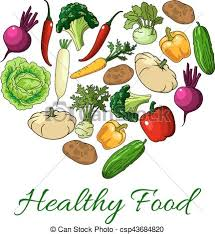 Healthy Food Heart Poster Vector Ve ables