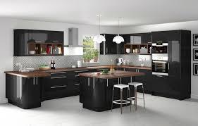 cuisine bois plan de travail noir plan de travail cuisine noir maison françois fabie