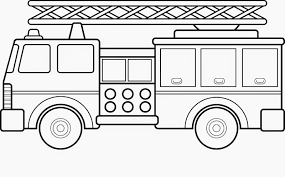Fire Truck Coloring Pages Printable 2