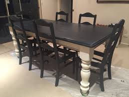 Paint Dining Tables Not Quite Finished Yet But Im Loving My Makeover Of Our