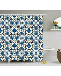 Royal Blue Bathroom Decor by Deal Alert Traditional House Decor Shower Curtain Portuguese