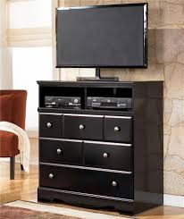 Black Dresser 3 Drawer by Signature Design By Ashley Shay Contemporary 3 Drawer Media Chest