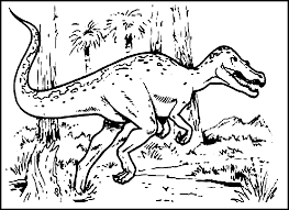 Download Coloring Pages Free Dinosaur Printable For Kids To