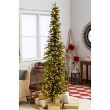 Pre Lit Pencil Cashmere Christmas Tree by Slim Pencil Christmas Trees Hayneedle