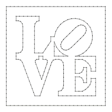 String Art Pattern Sheet LOVE Designed By Robert Indiana 50 X 50cm