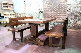 Dining Bench With Backrest Benches Back Backs Spectacular Artistic Table