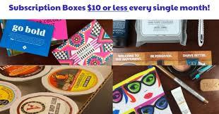 Subscription Boxes Ten Dollars