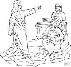 Boy Jesus In The Temple Coloring Page And