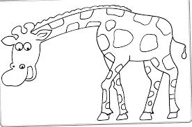 Kids Coloring Page Giraffe