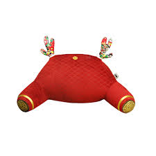 Red Decorative Lumbar Pillows by Red Decorative Lumbar Support Pillow With Floral Deer Horns Buy
