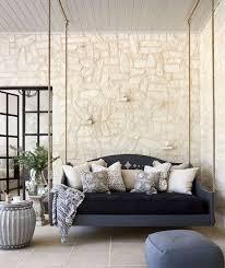 deco canapé canapé et lit suspendu pour décoration de terrasse et jardin