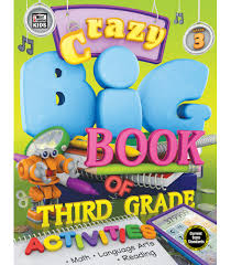 Halloween Picture Books For Third Graders by Crazy Big Book Of Third Grade Activities Activity Book Grade 3