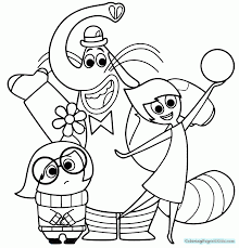 Inside Out Coloring Pages Di