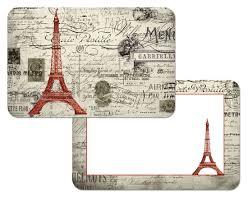 Fleur De Lis Reversible Patio Mats by Amazon Com French Eiffel Tower Reversible Washable Vinyl