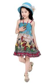 2017 New 2 7T Girls Dresses Summer Bohemian Style Dress For Fashion Knee