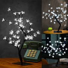 Christmas Tree Amazon Uk by Excelvan Cherry Blossom Tree 0 45m 1 5ft 48led Black Branches With