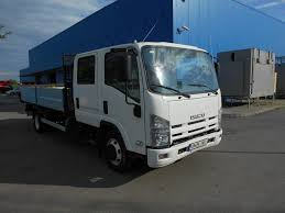 ISUZU NPR 75 - BENA BASCULABILA Flatbed Trucks For Sale, Drop Side ...