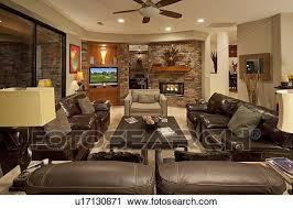 leder setzen möbeln in wohnzimmer luxus villa