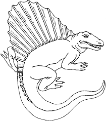 Dinosaur Clipart Coloring Pages 1