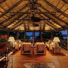 outdoor area with thatched roof and decor inspiration