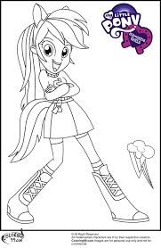 My Little Pony Coloring Pages Rainbow Dash Human